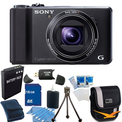 sony cyber shot dsc hx9v digital camera 16gb bundle. Black Bedroom Furniture Sets. Home Design Ideas