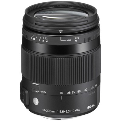 18-200mm F3.5-6.3 DC Macro OS HSM Lens for Sony/Minolta Mounts