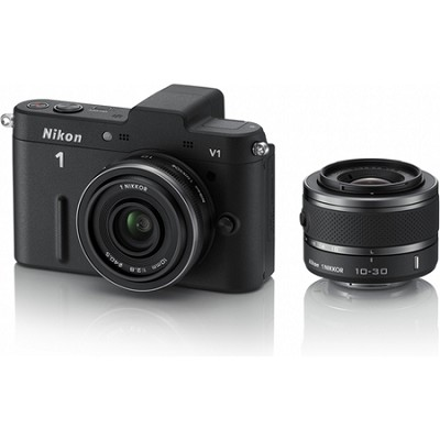 1 V1 SLR Black Digital Camera w/ 10mm & 10-30mm VR Lenses