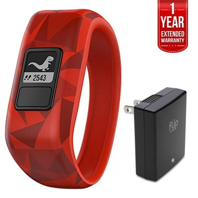 Vivofit Jr. Activity Tracker for Kids Broken Lava with Charger + Warranty