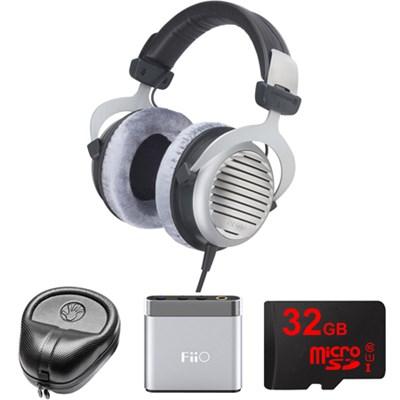 DT 990 Premium Headphones 600 OHM - 483966 w/ FiiO A1 Amp. Bundle