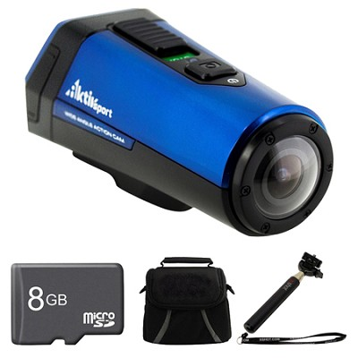 CX9WP-BL AktivSport Blue Camcorder 8GB Bundle