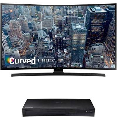 UN40JU6700 - 40-Inch 2160p 4K Curved Smart UHD LED TV + BDJ5900 3D Wifi Blu Ray