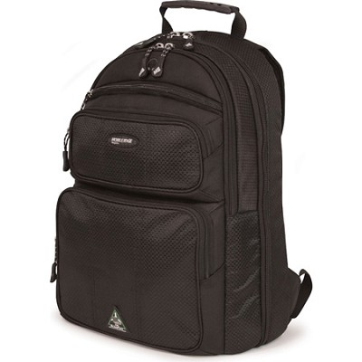 ScanFast Eco-Friendly Sorona 17.3` Black Laptop Backpack 2.0