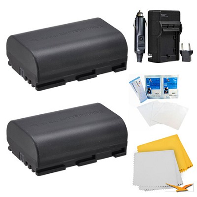 2 Battery Pack Kit for Canon EOS 5D Mark II, 5D Mark III, 7D, 70D, 6D, and 60D