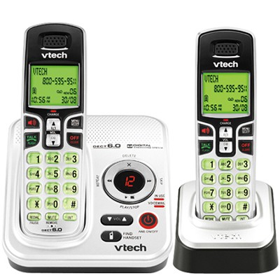 DECT 6.0  (CS6229-2) Expandable Two Handset Cordless Phone System
