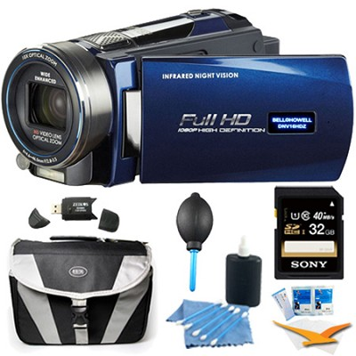 HD Infrared 16 MP Night Vision Camcorder w/ 10x Opt Zoom 3` LCD Plus 32GB Bundle