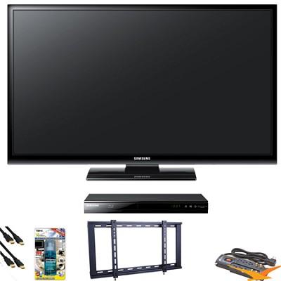 PN51E450 51 inch 720p Plasma HDTV Blu Ray Bundle