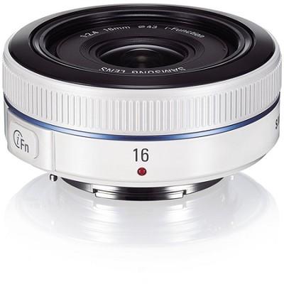 NX 16mm f/2.4 Ultra Wide Pancake Camera Lens - White