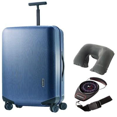 Inova 20` Hardside Carry On Luggage Blue TSA Lock w/ Travel Bundle