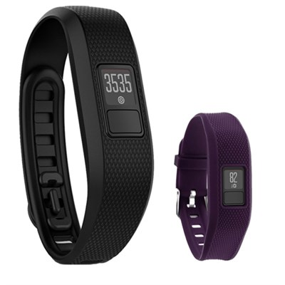 Vivofit 3 Activity Tracker Fitness Band XL w/ Replacement  Band (Purple)