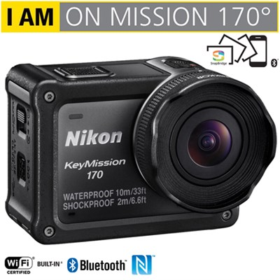 KeyMission 170 4K UHD Action Camera w/ Built-In Wi-Fi - (Certified Refurbished)