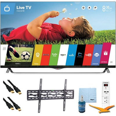 55` 4K Ultra HD 120Hz 3D Smart LED TV Plus Tilt Mount & HookUp Bundle (55UB8500)