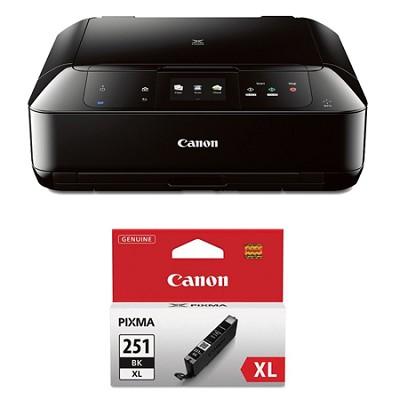 PIXMA MG7520 Wireless Color All-in-One Inkjet Black Printer Black XL Ink Bundle