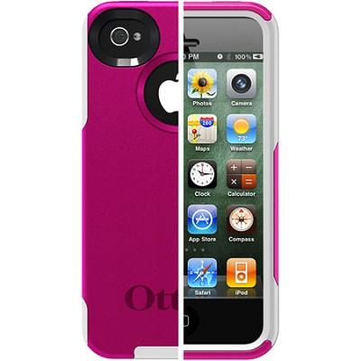 Commuter Case for iPhone 4S (Hot Pink/White)(77-18549)