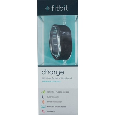 Charge Wireless Activity + Sleep Tracker Wristband - Black - Large - OPEN BOX