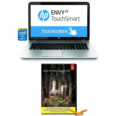 Envy TouchSmart 17.3` 17-j130us Notebook PC-i7-4700MQ Photoshop Lightroom Bundle