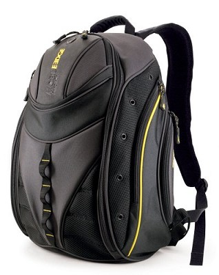 Express Backpack - Notebook carrying backpack - 16` - black, yellow