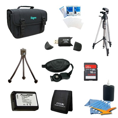 Loaded Value Tripod and NP-FW50 Battery Kit for Sony NEX-5N, NEX-7