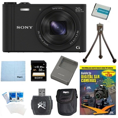 Cyber-shot DSC-WX350 Digital Camera Black 32GB Kit