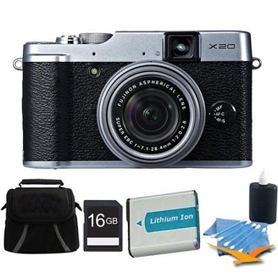 X20 12MP Digital Camera 16GB Silver Kit