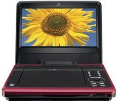 PD808R 8 Inch Portable DVD Player (Red)