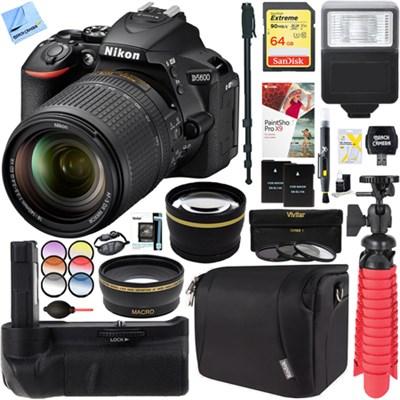 nikon d5600 24 2mp dslr camera af s 18 140mm ed vr lens battery grip accessory kit. Black Bedroom Furniture Sets. Home Design Ideas
