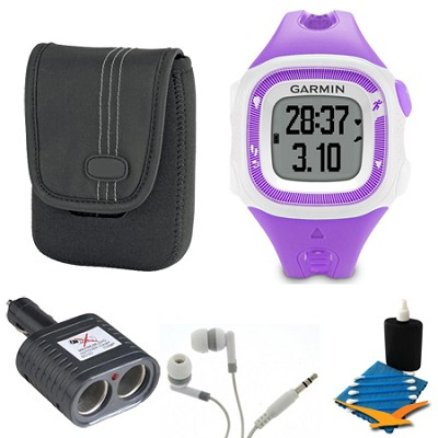 Forerunner 15 Heart Rate Monitor Bundle Small - Violet/White Bundle