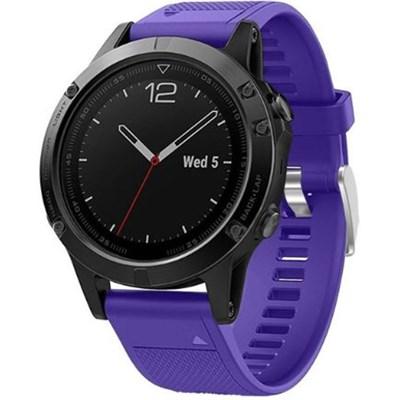 Silicon Wrist Band for Garmin Fenix 5 - Purple