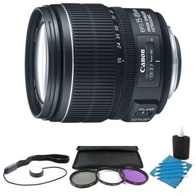 EF-S 15-85mm f/3.5-5.6 IS USM Standard Zoom Lens W/ 72mm Filter & Accy Kit