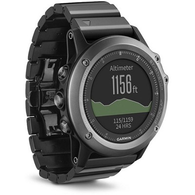 Garmin Fenix3 Metal Band Multisport GPS Watch (Sapphire Gray)