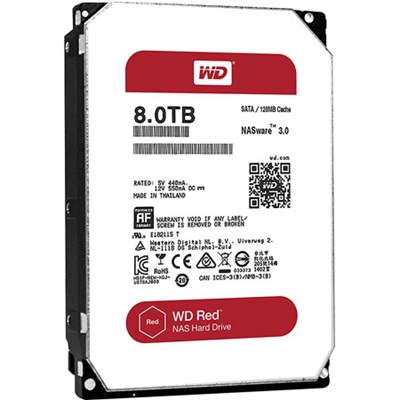 WD80EFZX 8TB Red 3.5` Internal NAS Hard Disk Drive - 5400 RPM SATA III 128MB