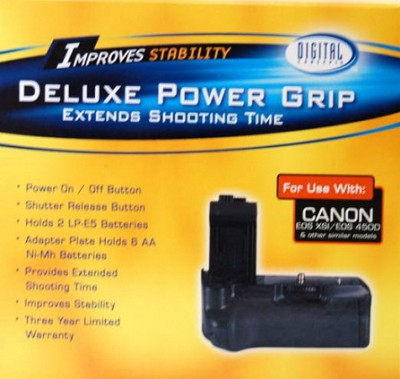 Vertical Battery Grip for Canon Rebel XS / XSi (Replaces BGE5)