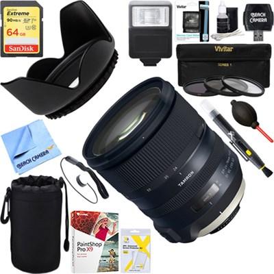 SP 24-70mm f/2.8 Di VC USD G2 Lens for Nikon Mount + 64GB Ultimate Kit