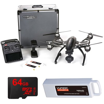 Typhoon Q500 4K Quadcopter Drone UHD Kit with 3 Batteries and Lexar 64GB Card