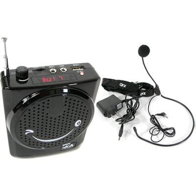 Portable Waist Band Belt  PA System W/ Microphone USB Micro SD Input FM Radio