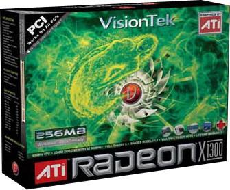 RADEON X1300 256MB PCI 3.3V LP DVI-I/SVID/HDTV W/OPT ADAPT 250W