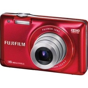 Finepix JX580 16MP Digital Camera with 5x Optical Zoom Lens (Red)