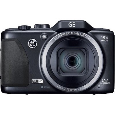 G100-BK Full HD 15X 28mm 3` LCD 14MP Black Digital Camera with CMOS Technology