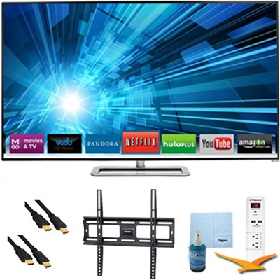 47-Inch 1080p 120Hz Smart Razor LED HDTV Plus Mount & Hook-Up Bundle - M471I-A2