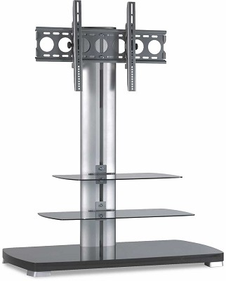 PFFP2b -  A/V Stand for 30` to 50` flat panel TVs w/ 3 shelves (Black)
