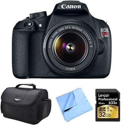 EOS Rebel T5 18MP DSLR Camera w/ 18-55mm Lens 32 GB Memory Kit