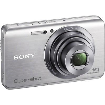 Cyber-shot DSC-W650 Silver Compact Digital Camera 3 inch LCD, HD Video
