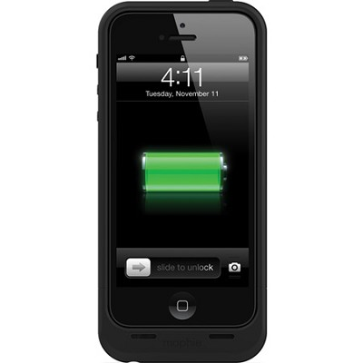 Juice Pack Air Rechargeable External 1700mAh Battery Case for iPhone 5 (Black)
