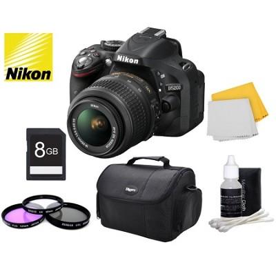 D5200 Digital SLR Kit w/ 18-55mm Lens + Bundle Accessories