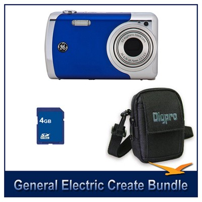 Create by Jason Wu 12MP Blue Camera Bundle w/ 4GB Card and Case