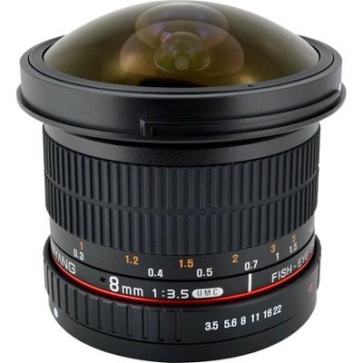 8mm F3.5 HD Fisheye Lens w/Removable Hood for Nikon AE