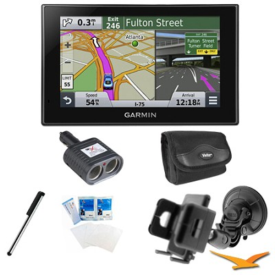 nuvi 2589LMT Advanced Series 5` GPS Navigation System Mount Bundle
