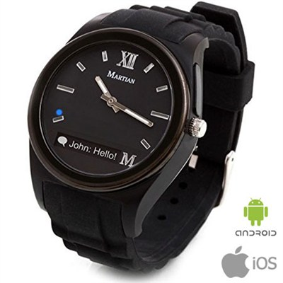 Notifier Smartwatch for Android and iOS Smartphones (Black)