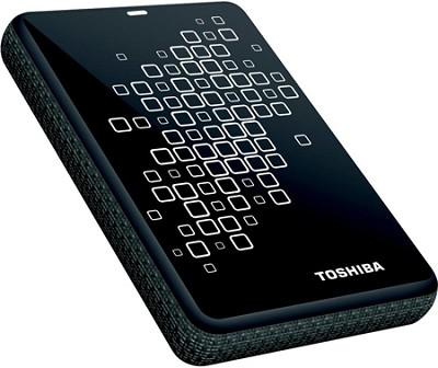 Canvio 3.0 Plus 1TB Portable Hard Drive in Black with White Accents